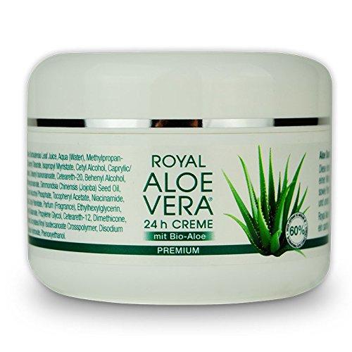 Royal Aloe Vera 24 h Gesichtscreme Tages / Nacht Creme mit 60% Bio Aloe Vera