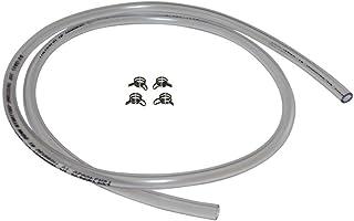 4 x 6mm Schlauchklammer Klammer inkl. 1m Benzinschlauch für Moped Mofa Roller Hercules Kreidler Zündapp Puch