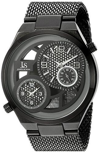 Joshua & Sons Reloj de Cuarzo Man JX111BK 48 mm