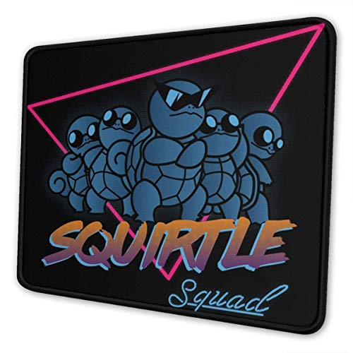 Fgfdrcd Poke Monster Squirtle Squad Mouse Pad Anti Slip Gaming Mouse Pad with Stitched Edge Computer PC Mousepad Neoprene Base for Office Home