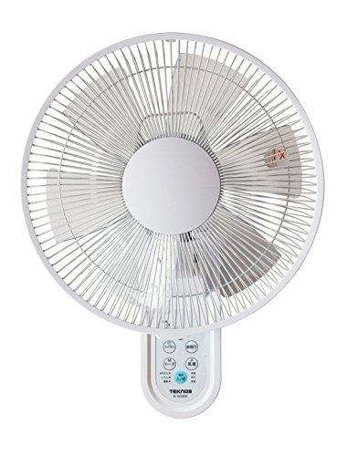 TEKNOS 壁掛け扇風機 フルリモコン フラットガード KI-W280R ホワイト