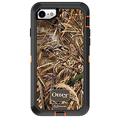 OtterBox DEFENDER SERIES Case for iPhone 8/7 (NOT PLUS) - Frustration Free Packaging - REALTREE MAX 5HD (BLAZE ORANGE/BLACK/MAX 5 DESIGN) (77-54052)