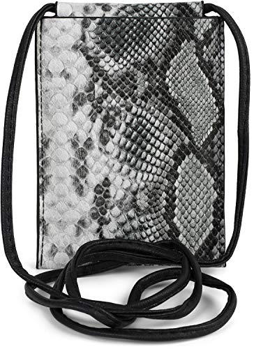styleBREAKER Women Smartphone Messenger Bag in Snakeskin Look,...