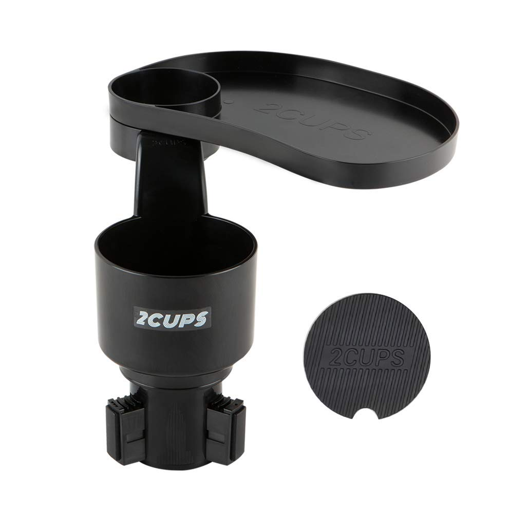 2CUPS Multiple Car Cup Holder and Attachable Tray 2nd Edition - Cup Holder /& Tray