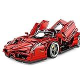 Tosbess Technic Auto Sportiva Ferrari Enzo, 2,4Ghz RC 1:10 Auto con Motore e Telecomando, 2615 Pezzi Blocchetti di Costruzione Compatibile con Lego Technic