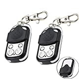 Boxby Electric Remote cloning, Gate Garage Door Remote Control 433mhz Universal Cloning Remote Control Key 4 Buttons Duplicate for Gate Remote Replacement-2PACK