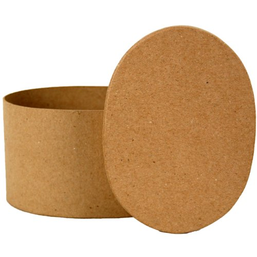 Land liefde ambachten ovale doos Papier Mache