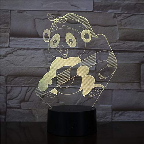 3D 7 couleur veilleuse Winnie l'ourson créatif mignon Winnie l'ourson Winnie l'ourson lampe de table télécommande illusion enfant lampe jouet cadeau
