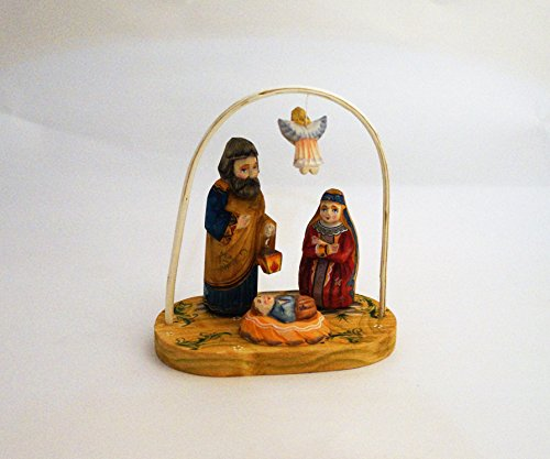Nativity of Christ Holy Family Wooden Hand Carved Russian Nativity Set Christmas Decoration 6 1/2 Inches