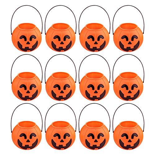LAEMILIA 12er Handtasche Halloween Motiv Kürbis Trick Or Treat Süßigkeiten Candy Bags Smile Pumpkin Tüten Set