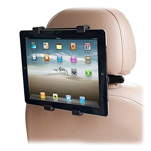 OcioDual Soporte Ajustable para Tablet con Adaptador para reposacabezas de Coche - Compatible con iPad, Samsung Galaxy y Otras