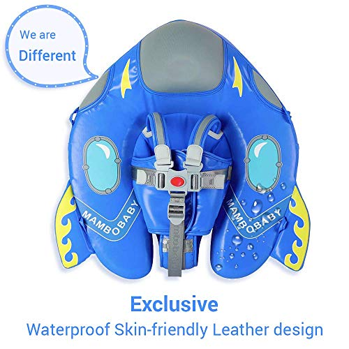 HECCEI Upgrade Baby Float for Infant Waist Swimming Ring Swim Trainer Life Vest Non-Inflatable Floats Toys with Adjustable Safety Strap (Blue Spaceship)