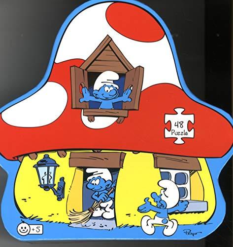 Los Pitufos - Puzzle silueta Casa Pitufa (Barbo Toys 8221) (