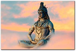dayanzai Lord Shiva Wall Art Canvas Paintings Hindu Gods Home Decorative Canvas Art Prints Hinduism Art Pictures for Living Room 60X80Cm No Frame