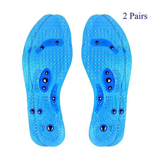 2 Paar Transparente Magnetische Orthopädische Einlegesohlen desodorierende Sweatproof bequeme Massage Einlegesohlen Euphoric Feet Akupressur Einlegesohlen Massageeffekt Einlagen für Männer & Frauen