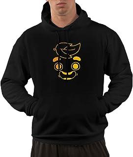 NELOHA Mens Pullover Hoodie, Gold Guava Juice Face Hooded Sweatshirt Aesthetic Hoodies for Men
