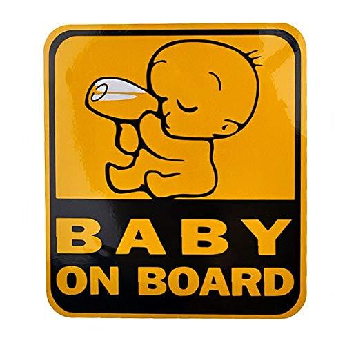 XIANGSHOU Baby Drinkmelk aan boord Ontwerp Reflecterende Auto Sticker Auto Decal - 11,5 cm*12,5 cm