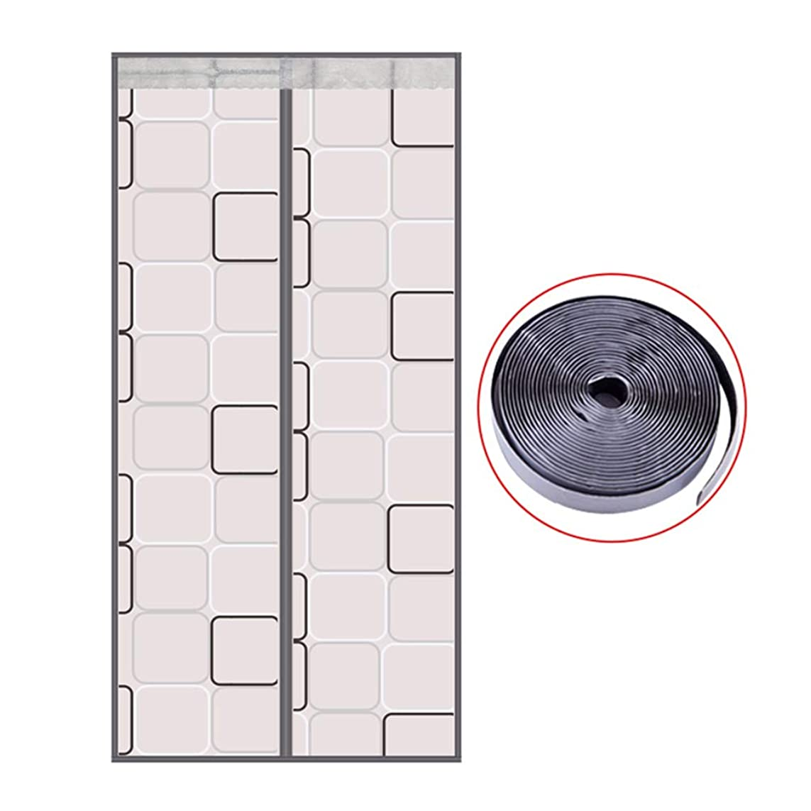協定遺伝子シビックWUFENG 網戸 蚊取り 高密度 メッシュ 断つ パンチフリー アンチダスト タペストリー ドアカーテン フルフレームマジック接着剤 ホーム、 2つのスタイル (Color : A, Size : 120x210cm)