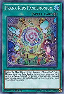 Yu-Gi-Oh! Singles - Prank-Kids Pandemonium - HISU-EN025 - Super Rare - 1st Edition - Hidden Summoners