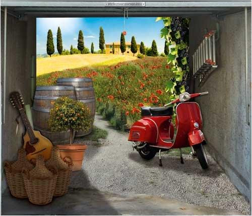 style-your-garage.com Garagentor Fotoplane, Bella Toscana B 245 cm x H 210 cm