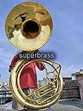 BBB full-size campana di 63,5cm in ottone naturale Sousafono. Vera in ottone suono, non a buon mercato in fibra di vetro.