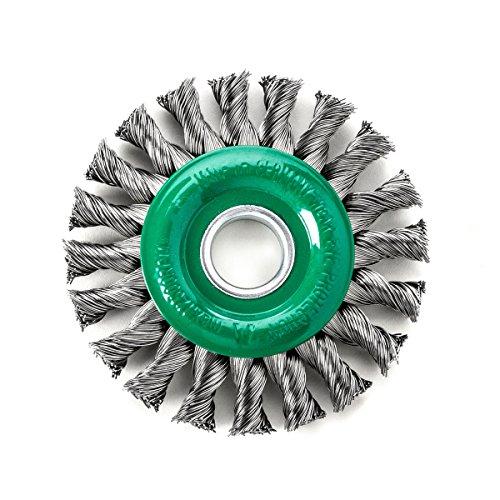 Rond Tressé DRM 115 x 14 mm 20 Z brut en acier inoxydable Fil 0,35 mm alésage 22,2 mm