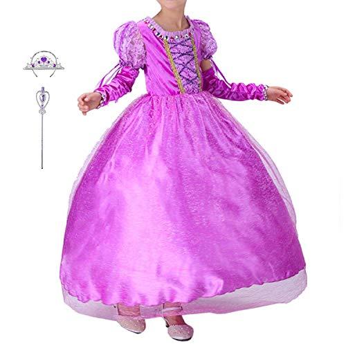 LiUiMiY 子供 プリンセス ドレス キッズ 女の子 コスチューム パープル スカート アームカバー お姫様 ハロウィン 仮装