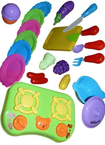A131 20 pcs Jeu de Cuisine Set -. Une Table Parfaitement posé avec cet Accessoire de Cuisine pour Le Petit Chef
