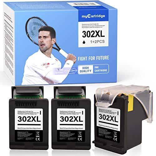 MyCartridge Compatibile con cartucce per stampanti HP 302 XL 302XL per HP Envy 4520 4525 4527 Officejet 3830 3831 3833 4650 4654 5230 Deskjet 1110 3630 3636 3639 Cartucce Eco (3 nere)
