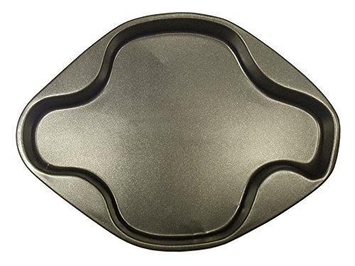 VESPA 200188 Backform Dolci Taube antihaftbeschichtet, Anthrazit, 26 cm, Aluminium, Schwarz