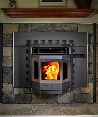 Comfortbilt HP22i Pellet Stove/Fireplace Insert 42,000 Btu w/Stainless Steel Door Trim