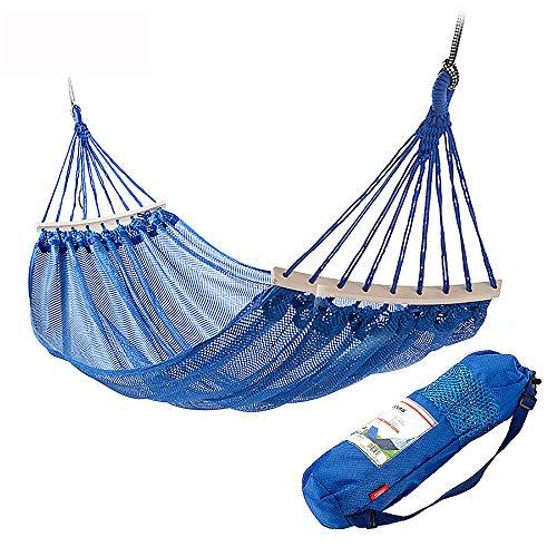 MZZG Hängematte,Outdoor Hängematte Anti-Rollover atmungsaktiv Camping Hängematte mit 200 * 120 cm und maximale Belastung 200 kg, geeignet für Park/Camping/Strand