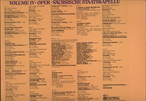 Böhm in Dresden, Vol. IV: Oper / Sächsische Staatskapelle (Eine Schallplatten-Dokumentation anläßlich seines 85. Geburtstages) [Vinyl Schallplatte] [6 LP Box-Set]