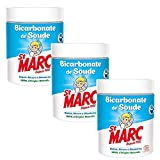St Marc Bicarbonate de Soude Nettoyant Multi-Usage 100% d'Origine Naturelle 500 g - Lot de 3
