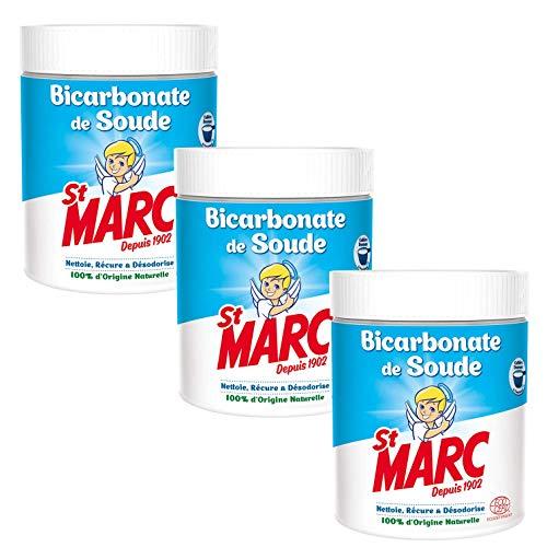 St Marc Bicarbonate de Soude Nettoyant Multi-Usage 100% d'Origine Naturelle 500 g - Lot de 3