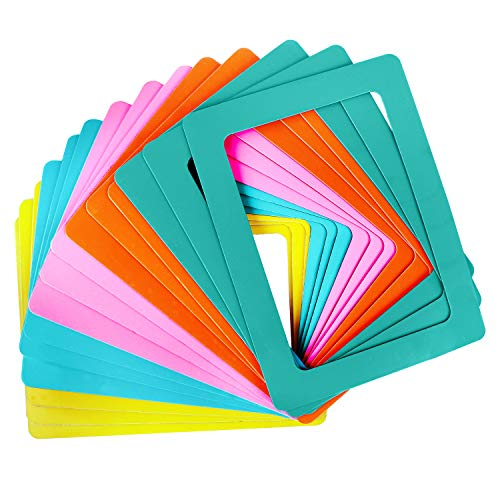Marco de Fotos con Iman para Refrigerador - Pack 15 Marco Magnetico 5 Colores Surtidos - Iman Portafoto Nevera para Foto 11.4 cm x 15.4 cm (4 x 6 inches) para Fotos Familiares, Diversión para