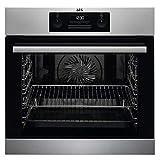 AEG BEB331010M - Forno a incasso con funzione grill, display con orologio, in acciaio INOX con stampa anti-impronte