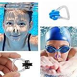 JOJYO Nasenklammer,Nasenklammer Schwimmen 10 Stück Silikon Nasen Clip Schutz Geeignet für Erwachsene und Kinder Schwimmen Freitaucher und Anfänger - 6