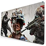 Harataki Call-of-Duty_Black Ops Cold War Mouse Pad, Premium-Textured Printing Mouse Mat, Non-Slip Rubber Base Mousepad for Laptop, Computer & PC, 29.5X15.8 inch