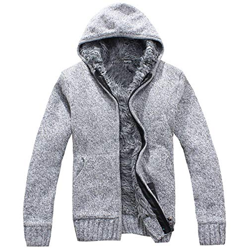 Mantel Heren gebreide jas Fashion Hooded Thicken Plus Velvet Knit Indoor Outdoor Sweater