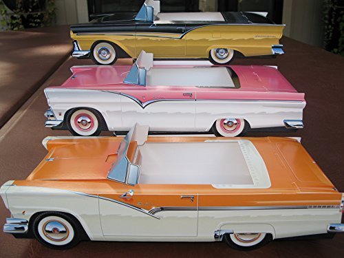 54 Assorted Cardboard Cars Party Planner Favor or Food Serving Tray