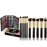 Kit de Maquillaje All in One, FantasyDay 120 Colores Sombra De Ojos Eyeshadow Paleta de Maquillaje Cosmética Profesional Navidad Belleza de Regalos con 10 Brochas Maquillaje para Cara, Base, Colorete