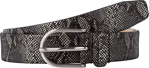 BRAX Damen Style Ledergürtel Mit Schlangenprint Gürtel, Black, 6671 (Herstellergröße: 105)