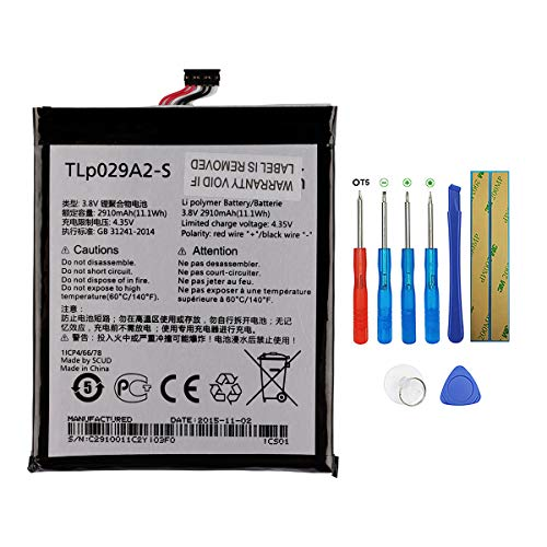 New Replacement Battery TLP029A2-S Compatible with Alcatel One Touch Idol 3 5.5' 6045i OT-6045F OT-6045K TCL i806 Idol 3 Dual SIM 6045Y with Tools