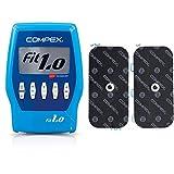 Compex Fit 1.0 Elettrostimolatore, Blu & Performance Elettrodo a Snap, 1 Uscita, 5x10, 2 Pezzi