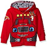 Nickelodeon Boys' Toddler Monster Machines Lets Blaze Hoodie, Red, 4T