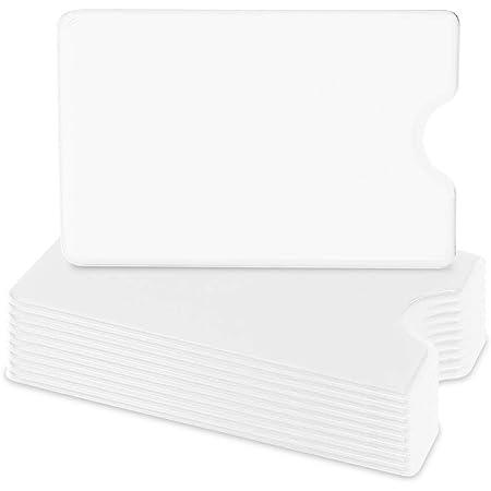 kwmobile Set 10 custodie protettive per tessere - Portacarte portatessere per carta di credito tessera sanitaria patente bancomat - bianco