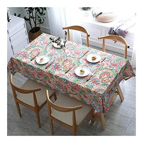 Yxx max -Haushalt Tischdecke Tischdecke rechteckig Couchtisch Tischdecke Gartentischdecke for Küchendeko Durable leicht zu reinigen Wasserdicht und Antifouling (Color : 2#, Size : Round-150cm)