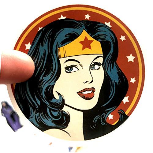 DSSJ 20 Pegatinas de Wonder Woman Pegatinas de la Liga de la Justicia Pegatinas de Caja de Palanca de Equipaje Pegatinas de Cuaderno de Personalidad