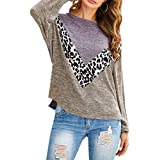 LUCKLISA Women's Long Sleeve Color Block...